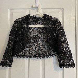 Jones New York Black Lace Shrug Cardigan